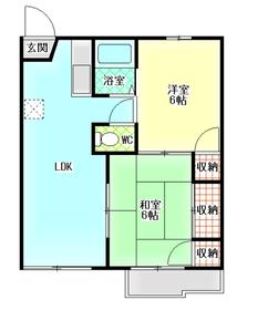 第2グランドハイツ2階Fの間取り画像