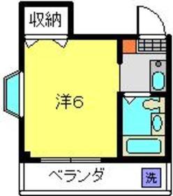 スターフィールド日吉2階Fの間取り画像