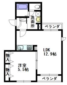 confort MARUZEN4階Fの間取り画像
