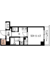 スカイコート本郷東大前壱番館5階Fの間取り画像