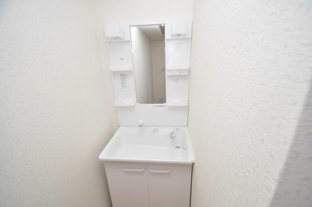 ゴッドフィールドⅡ 独立した洗面所には洗濯機置場もあり、脱衣場も広めです。