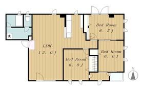 ハイムカズ4階Fの間取り画像