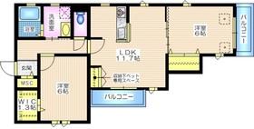 メゾンテラス逗子1階Fの間取り画像