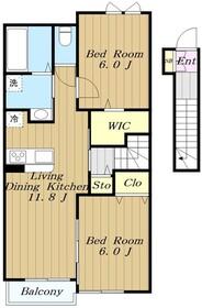 モアナ レア2階Fの間取り画像