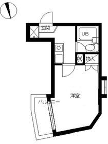 スカイコート戸田公園第41階Fの間取り画像