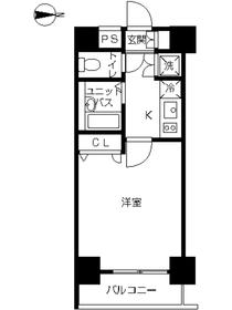 スカイコート神田第59階Fの間取り画像