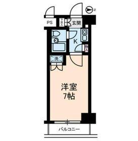 グローリア初穂桜台II5階Fの間取り画像