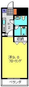 武蔵中原駅 徒歩15分4階Fの間取り画像