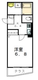 メゾンMORO1階Fの間取り画像