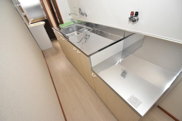 長堂2-16-8 貸家 シンプルなキッチンです。あなた好みのコンロを置いてくださいね。