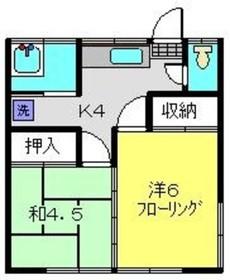 小泉荘1号1階Fの間取り画像