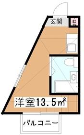 パルコヴィアーレ2階Fの間取り画像