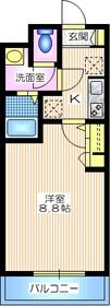 ブランメゾン妙蓮寺2階Fの間取り画像