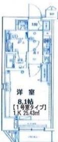 仲木戸駅 徒歩14分8階Fの間取り画像