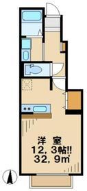 メゾンドサンセールC1階Fの間取り画像