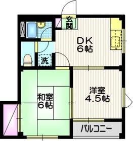メゾンエレガンス3階Fの間取り画像