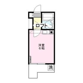 銀東ハイツⅢ2階Fの間取り画像