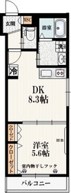 仮称)本町5丁目メゾン2階Fの間取り画像