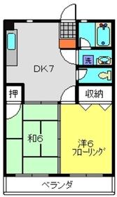 堀江マンション4階Fの間取り画像
