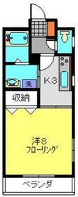 綱島駅 徒歩6分3階Fの間取り画像