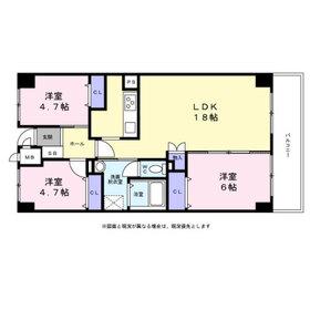 戴慶カーサグラシア6階Fの間取り画像
