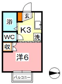 エクセレントハイム952階Fの間取り画像