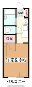 コーポ鈴木1階Fの間取り画像