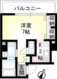 TRES赤坂6階Fの間取り画像