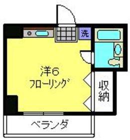 鶴見駅 バス14分「馬場4丁目」徒歩2分4階Fの間取り画像