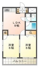 豊田駅 徒歩35分4階Fの間取り画像