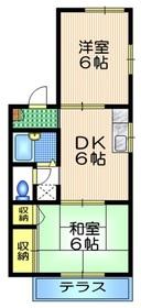 メゾンイノウエ2階Fの間取り画像