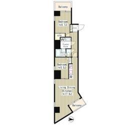 レジデンス本郷アコマ9階Fの間取り画像