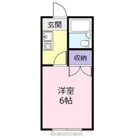コーポシオノ2階Fの間取り画像