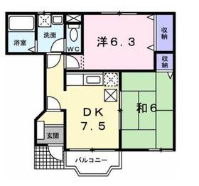 フロレスタA1階Fの間取り画像