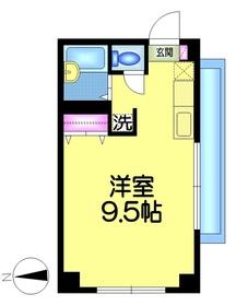 ハイムYNビル3階Fの間取り画像