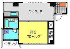 Yパークハイツ4階Fの間取り画像