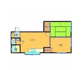 シャンテアリガ1階Fの間取り画像