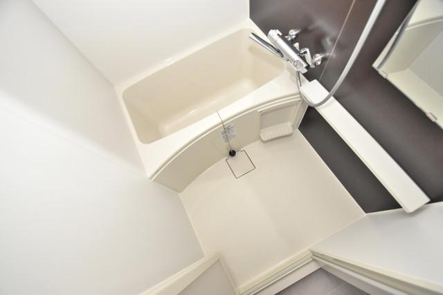 レジュールアッシュOSAKA今里駅前 ちょうどいいサイズのお風呂です。お掃除も楽にできますよ。