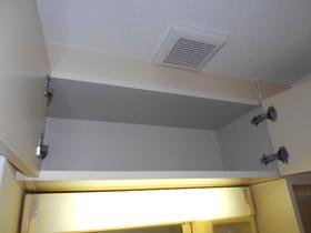 洗面キャビネット上部の収納