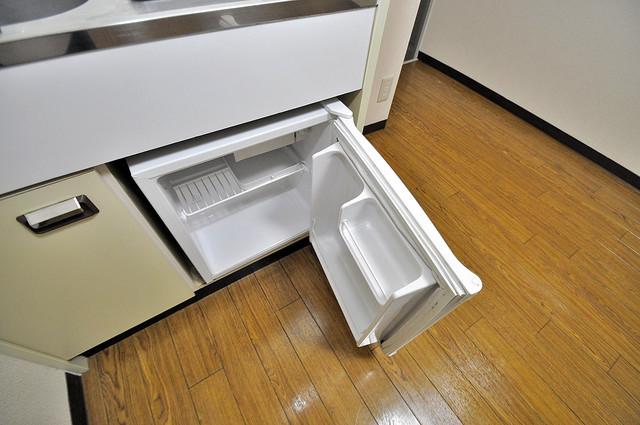 アリーヴェデルチ小阪 ミニ冷蔵庫が付いているのでうれしいですね。