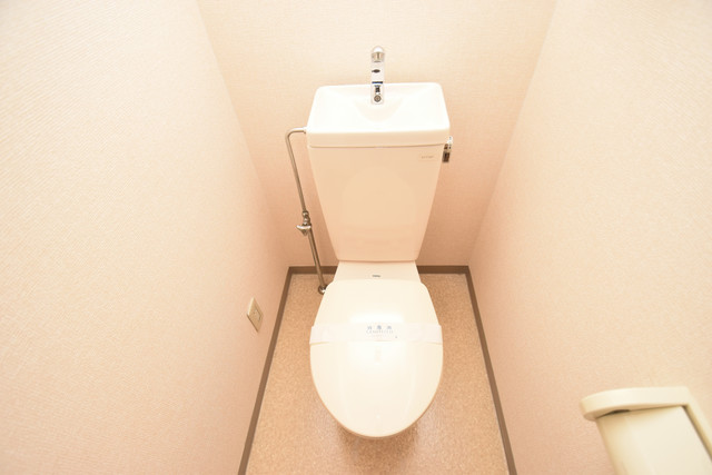 ヴィラサンライフ 清潔感たっぷりのトイレです。入るとホッとする、そんな空間。