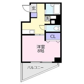 パークヒルズ上福岡4階Fの間取り画像