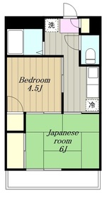 重森コーポ1階Fの間取り画像
