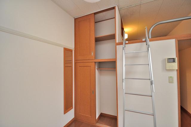 レオパレスフセアジロミナミ もちろん収納スペースも確保。お部屋がスッキリ片付きますね。