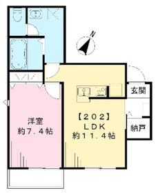 カサブエナ プレイス2階Fの間取り画像