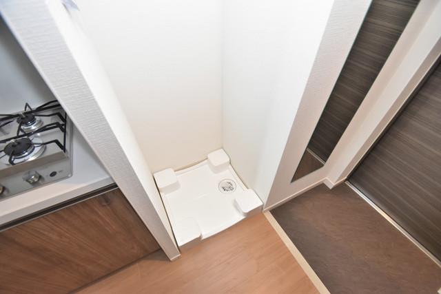 スプランディッド荒本駅前 嬉しい室内洗濯機置場。これで洗濯機も長持ちしますね。