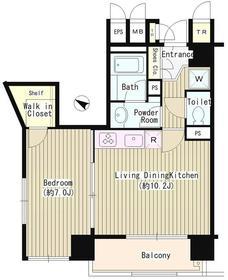 白金台グリーン・リーブス3階Fの間取り画像