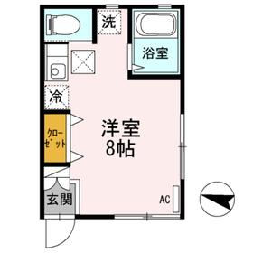 メゾンU1階Fの間取り画像