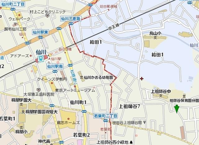 シェモア仙川壱番館案内図