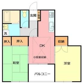 アスコットヒル2階Fの間取り画像